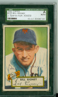 Bill Rigney AUTOGRAPH d.01 1952 Topps #125 Giants SGC/JSA CARD IS F/G: CREASING, AUTO CLEAN