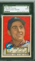 Carl Scheib AUTOGRAPH 1952 Topps #116 Athletics SGC/JSA CARD IS SHARP EX/MT