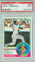 1983 Topps Baseball 180 Rickey Henderson Oakland Athletics PSA 7 Near Mint
