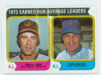 1974 Topps Baseball 206 ERA Leaders Very Good to Excellent