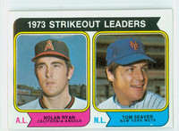 1974 Topps Baseball 207 Strikeout Leaders Very Good to Excellent