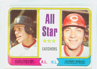 1974 Topps Baseball 331 All Star Catchers Very Good to Excellent