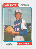 1974 Topps Baseball 29 Phil Niekro Atlanta Braves Near-Mint