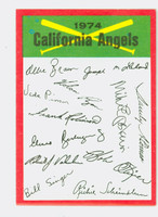 1974 Topps Checklists 4 California Angels Near-Mint