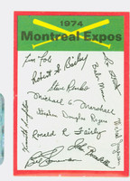 1974 Topps Checklists 15 Montreal Expos Near-Mint