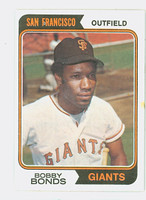1974 Topps Baseball 30 Bobby Bonds San Francisco Giants Near-Mint Plus