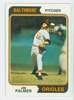 1974 Topps Baseball 40 Jim Palmer Baltimore Orioles Near-Mint Plus