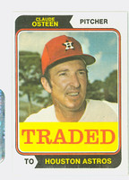 1974 Topps Baseball 42 T Claude Osteen TRADED Houston Astros Near-Mint Plus