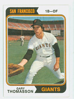 1974 Topps Baseball 18 Gary Thomasson San Francisco Giants Near-Mint to Mint