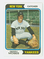 1974 Topps Baseball 19 Gerry Moses New York Yankees Near-Mint to Mint