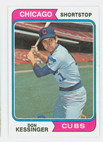 1974 Topps Baseball 38 Don Kessinger Chicago Cubs Near-Mint to Mint
