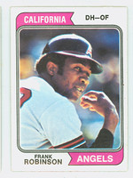 1974 Topps Baseball 55 Frank Robinson California Angels Excellent to Mint