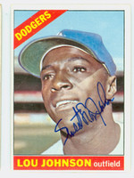 Lou Johnson AUTOGRAPH 1966 Topps #13 Dodgers CARD IS CLEAN EX+