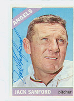 Jack Sanford AUTOGRAPH d.00 1966 Topps #23 Angels CARD IS CLEAN EX