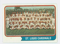 Red Schoendienst AUTOGRAPH 1974 Topps #36 Cardinals Team CARD IS CLEAN EX