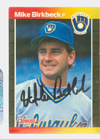 Mike Birkbeck AUTOGRAPH 1989 Donruss Mariners 
