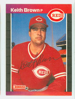 Keith Brown AUTOGRAPH 1989 Donruss Reds 