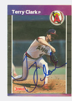 Terry Clark AUTOGRAPH 1989 Donruss Angels 