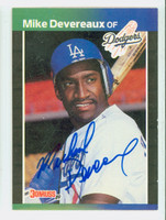 Mike Devereaux AUTOGRAPH 1989 Donruss Dodgers 