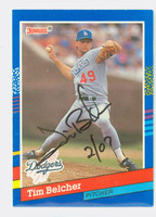 Tim Belcher AUTOGRAPH 1991 Donruss Dodgers 