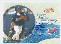 Larry Barnes AUTOGRAPH 2001 Fleer FUTURES Angels 