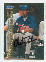 Cleatus Davidson AUTOGRAPH 1999 Fleer Tradition Twins 