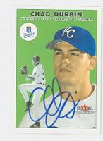 Chad Durbin AUTOGRAPH 2000 Fleer Tradition Royals 
