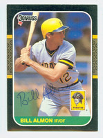 Billy Almon AUTOGRAPH 1987 Donruss Pirates 