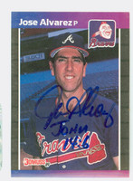 Jose Alvarez AUTOGRAPH 1989 Donruss Braves 
