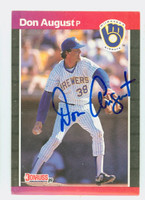 Don August AUTOGRAPH 1989 Donruss Brewers 