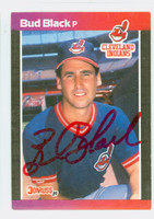 Bud Black AUTOGRAPH 1989 Donruss Indians 
