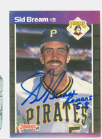 Sid Bream AUTOGRAPH 1989 Donruss Pirates 
