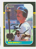 Bob Brenly AUTOGRAPH 1987 Donruss Giants 