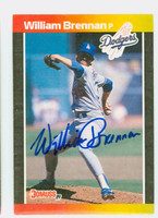 William Brennan AUTOGRAPH 1989 Donruss Dodgers 