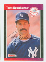 Tom Brookens AUTOGRAPH 1989 Donruss Yankees 