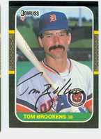 Tom Brookens AUTOGRAPH 1987 Donruss Tigers 