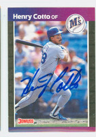 Henry Cotto AUTOGRAPH 1989 Donruss Mariners 