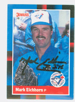 Mark Eichhorn AUTOGRAPH 1988 Donruss Blue Jays 