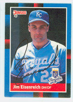 Jim Eisenreich AUTOGRAPH 1988 Donruss Royals 