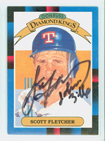 Scott Fletcher AUTOGRAPH 1988 Donruss Diamond King Rangers 