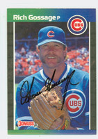Rich Gossage AUTOGRAPH 1989 Donruss Cubs 