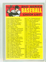 1970 Topps Baseball 128 Checklist Two NO PERIOD  Near-Mint
