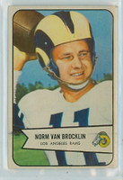 1954 Bowman Football 8 Norm Van Brocklin Very Good to Excellent