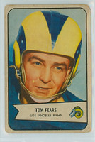 1954 Bowman Football 20 Tom Fears Los Angeles Rams Fair to Good