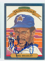 Phil Bradley AUTOGRAPH 1986 Donruss #22 Diamond King Mariners 