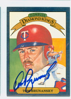 Tom Brunansky AUTOGRAPH 1986 Donruss #24 Diamond King Twins 