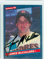 Lance McCullers AUTOGRAPH 1986 Donruss #41 Padres 