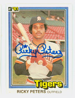 Ricky Peters AUTOGRAPH 1981 Donruss #10 Tigers 