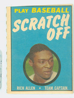 1970 Topps Scratch Off Baseball Richie Allen Philadelphia Phillies Very Good