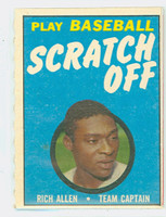 1970 Topps Scratch Off Baseball Richie Allen Philadelphia Phillies Excellent to Mint